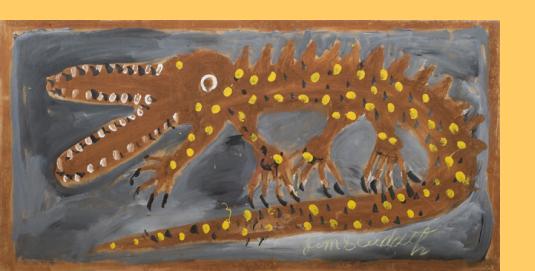 Jimmy Lee Sudduth (American, 1910–2007) Alligator, n.d.